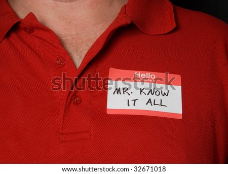 Mr Know It All - stock photo