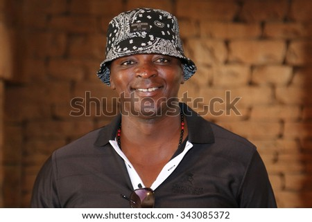 MSENGANA, THOMAS  - NOVEMBER 15: Radio Celebrity Playing at Gary Player Charity Invitational Golf Tournament posing for picture on November 15, 2015, Sun City, South Africa.  - stock photo