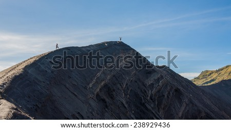 Mt.Bromo Volcano,Indonesia - stock photo