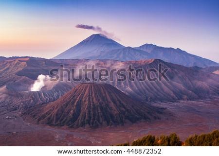 Mt. Bromo volcano, Java, Indonesia - stock photo