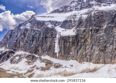 Mt. Edith Cavell in Jasper National Park, Canada - stock photo