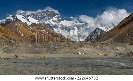 Mt, Everest, Tibet Ladscape - stock photo