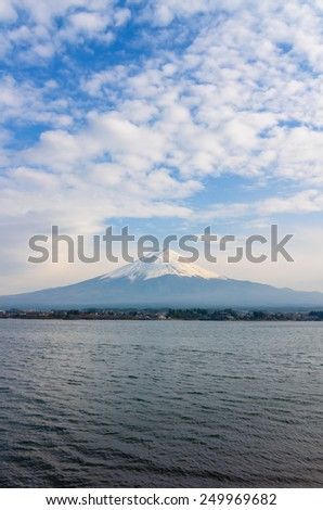 MT. Fuji as seen from Kawaguchiko lake