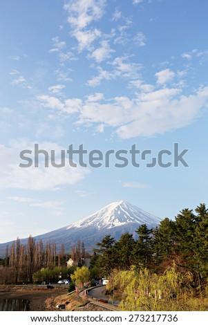 Mt fuji at kawaguchi lake side view,japan. - stock photo