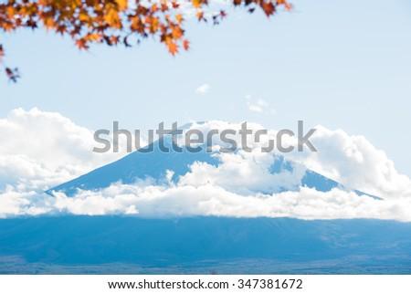 Mt. Fuji in autumn - stock photo