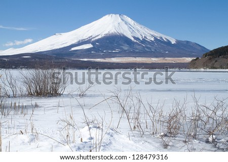 Mt.Fuji in winter season - stock photo