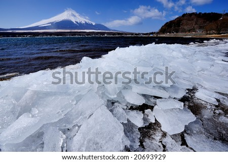 Mt. Fuji of the God ferry - stock photo