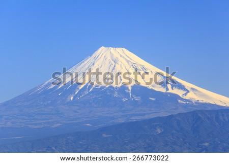 Mt. Fuji seen from Nishiizu, Shizuoka, Japan - stock photo