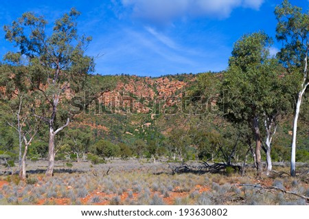 Mt Gunderbooka in Gundabooka National Park, outback New South Wales, Australia - stock photo