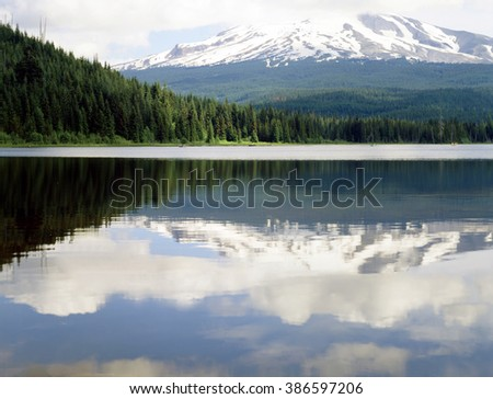 Mt. Hood and lake