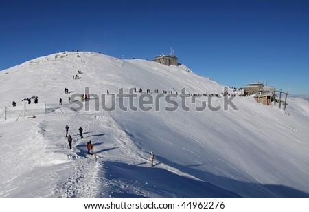 Mt. Kasprowy ski station - stock photo
