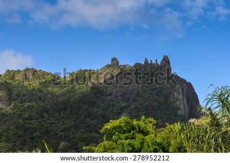 Mt Manaia in New Zealand - stock photo