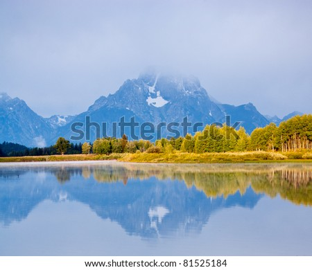 Mt. Moran Reflection from Oxbow Bend
