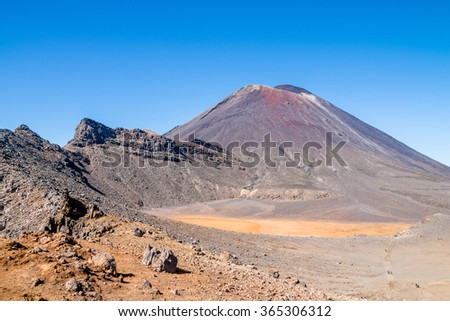 Mt. Ngaruhoe and South Crater, New Zealand - stock photo