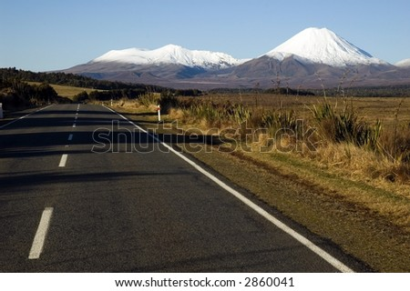 Mt. Ngauruhoe New Zealand - stock photo