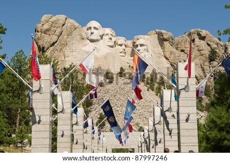 Mt Rushmore - stock photo