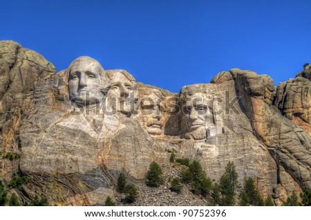 Mt. Rushmore National Memorial in South Dakota. - stock photo