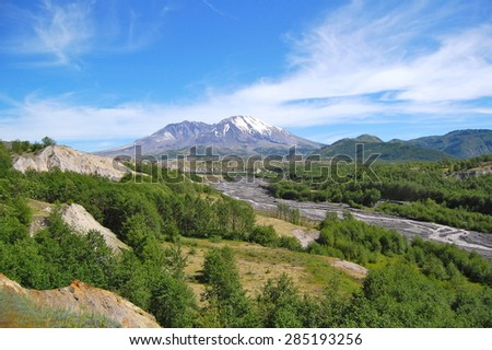 Mt. St. Helens Toutle River - stock photo