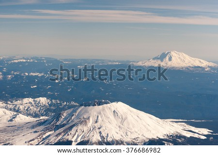 Mt. St. Helens with Mt. Adams in the distance