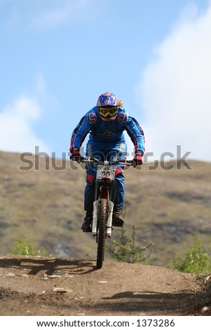 MTB World Cup 2006 at Fort William Scotland - Womens Downhill Final Emily Horridge - stock photo