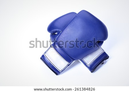 muay thai punching object gear martial Arts boxing glove sports equipment - stock photo