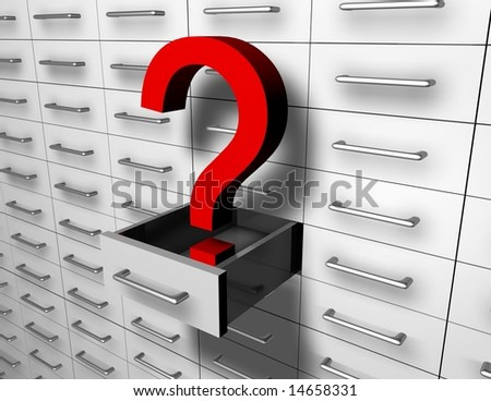much cases and quest - stock photo