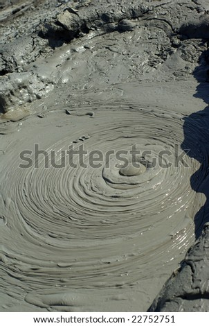 Mud volcano in Gobustan ,Azerbaijan - stock photo