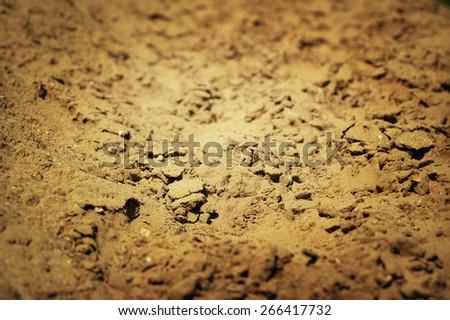 Muddy path background toned photo - stock photo