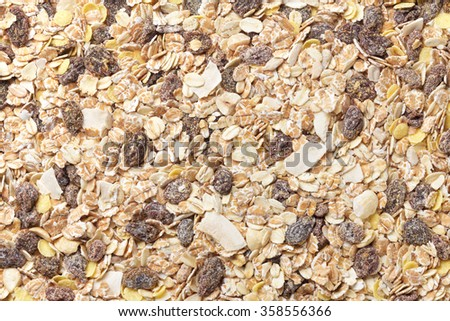 Muesli , Cereal - stock photo