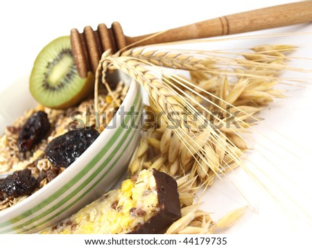 Muesli still life - stock photo