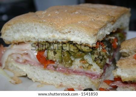 Muffaletta Sandwich - stock photo