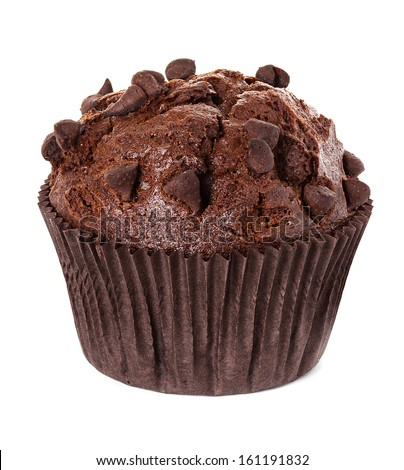muffin chocolate - stock photo
