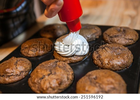 Muffin decoration - stock photo