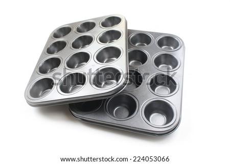 Muffin Tray, cupcakes tray fro baking  - stock photo