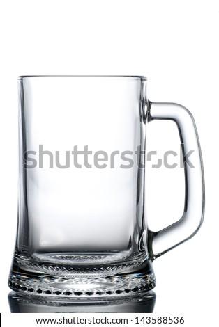 Mug of beer empty - stock photo