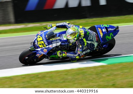 MUGELLO - ITALY, MAY 29-30: Italian Yamaha rider Valentino Rossi at 2015 TIM MotoGP of Italy at Mugello circuit on May 29-30, 2015