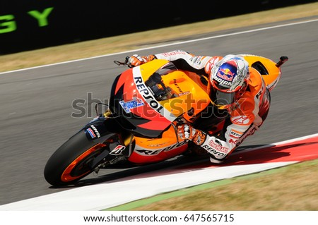 Mugello July 13 Casey Stoner Repsol Stock Photo 647565715