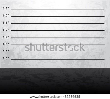 Mugshot prison background - stock photo