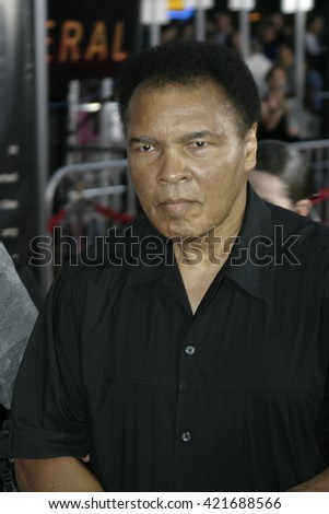 Muhammad Ali at the Los Angeles premiere of 'Collateral' held at the Orpheum Theatre in Los Angeles, USA on August 2, 2004. - stock photo