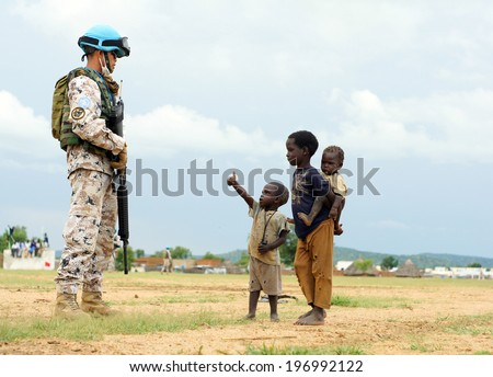 Southern sudan stock images royalty free images vectors mukjar southern sudan september 16 2011 unidentified young african kids and mans sciox Images