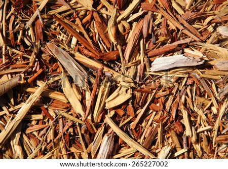 Mulch with large chunks - stock photo