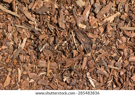 Mulch wood bark material seamless texture background - stock photo