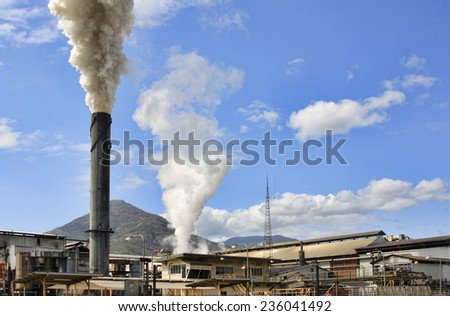 Mulgrave Central Mill - sugarcane mill near Cairns at Gordonvale Australia - stock photo