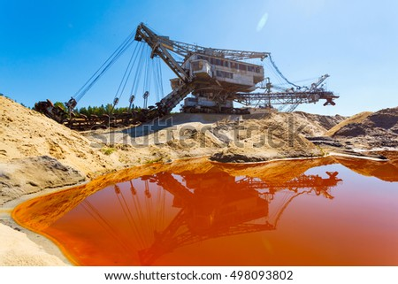multi bucket excavator, giant stacker, absetzer in career