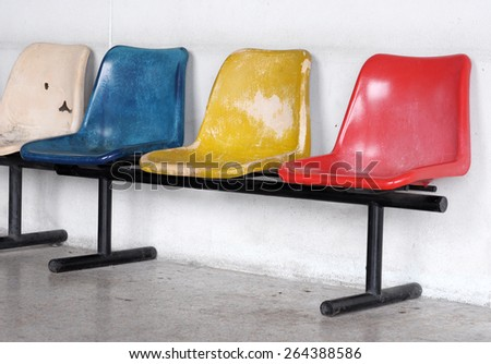 multi color chair  - stock photo