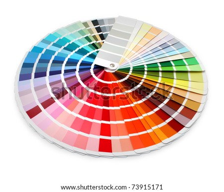 Multi color designer swatch palette guide chart spectrum - stock photo