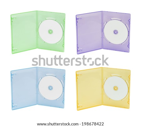 Multi color DVD box