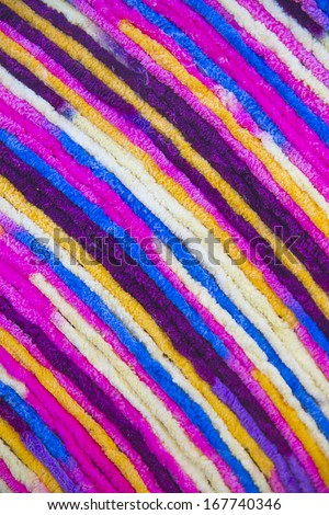 Multi color fabric in a row - stock photo