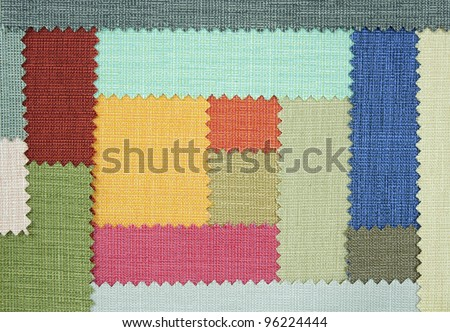 Multi color fabric texture samples - stock photo