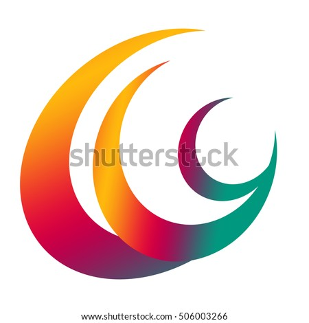 Multi color logo isolated on white background
